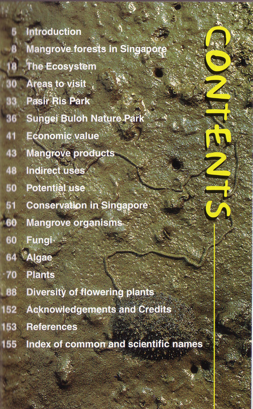 A Guide to the Mangroves of Singapore 1 - inhaltsverzeichnis