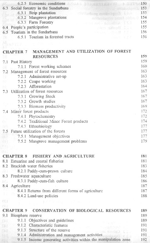 Mangroves of the Sundarbans - Volume I - inhaltsverzeichnis